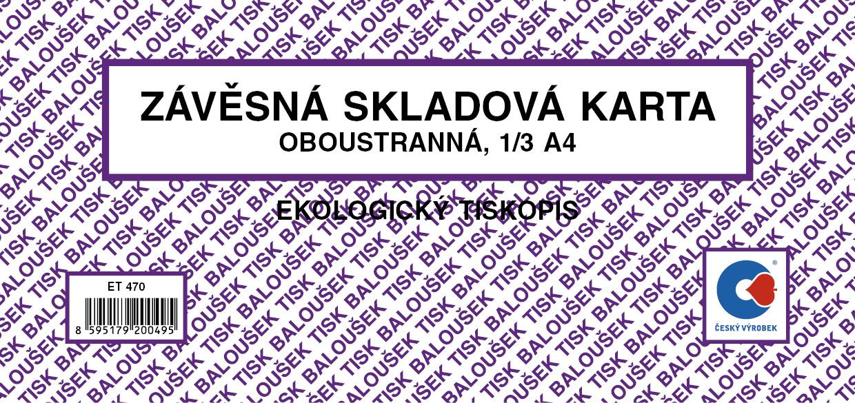 Závěsná skl. karta malá / oboustr./