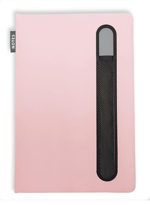 Notes linkovaný s kapsou A5 - pastel - starorůžová
