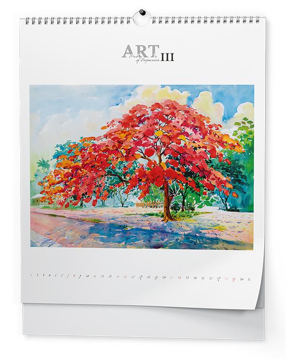 Nástěnný kalendář - Art of impression (450x520 mm)