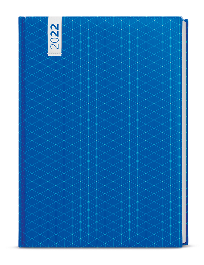 Týdenní diář - Oskar - lamino - A5 - Modrý