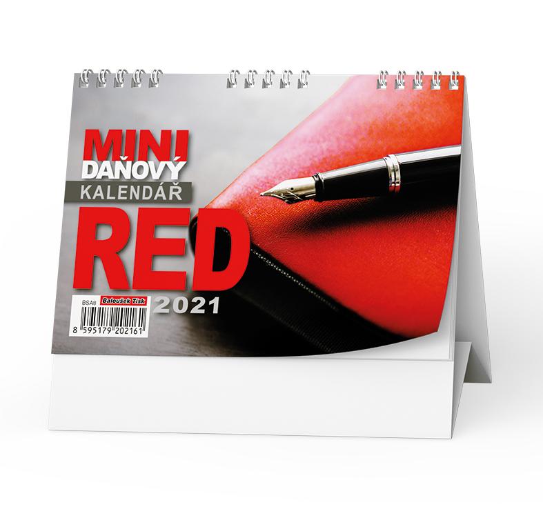 Stolní kalendář - Red - mini daňový, BALOUŠEK, BSA8