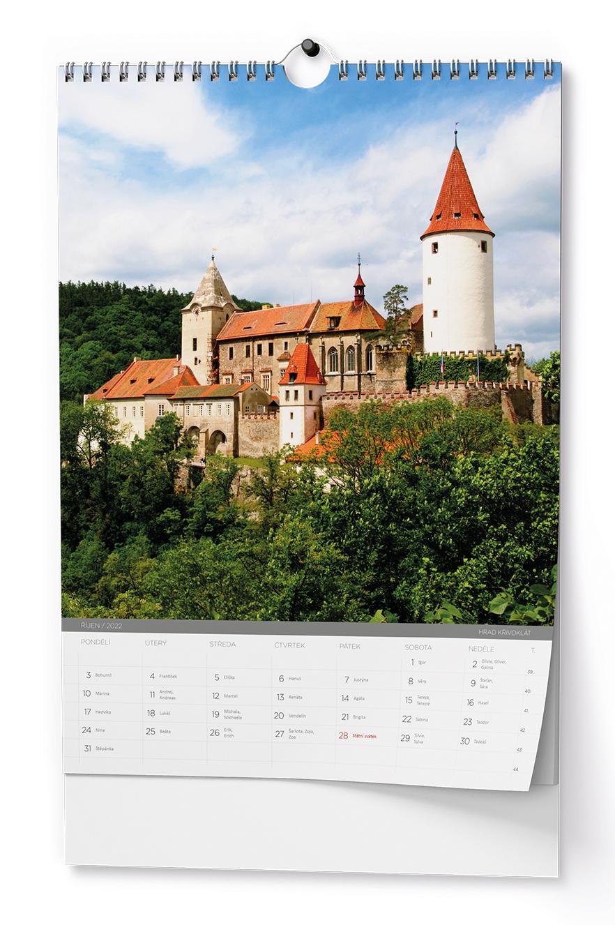 Nástěnný kalendář A3 - Hrady a zámky České republiky