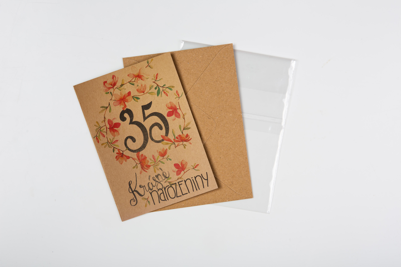 Přáníčko BeBechy – recyklovaný papír – 35