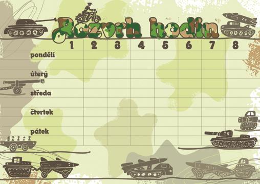 Rozvrh hodin Tanky