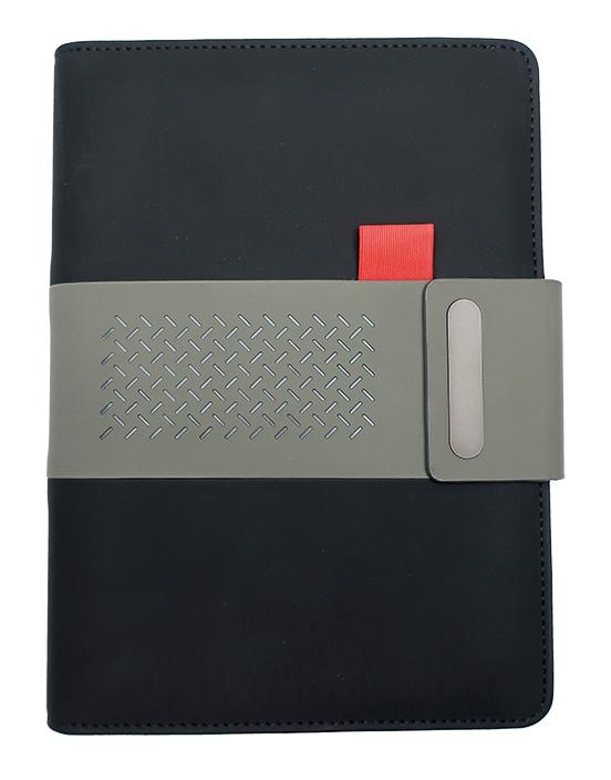 Notes linkovaný s kapsou A5 - elegant - černá