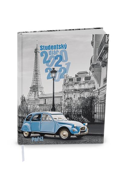 Týdenní diář - Student - V8 - lamino - kapesní - Paříž, BALOUŠEK, BTS9-4