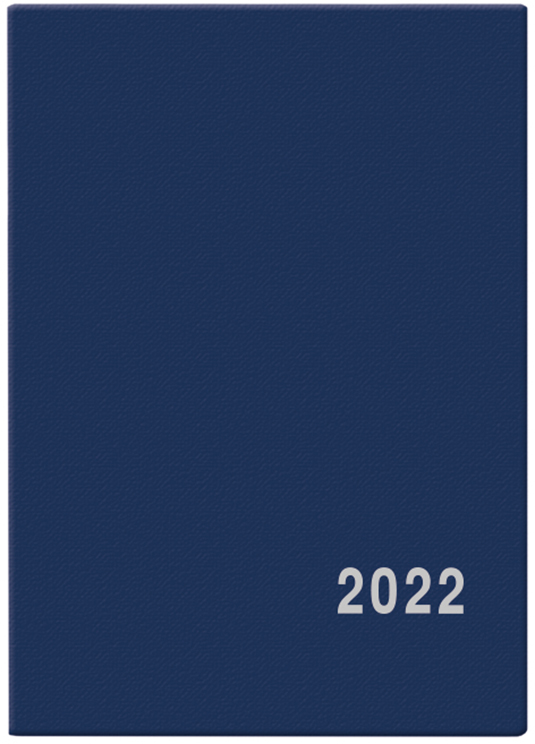 Měsíční diář - Anežka - PVC - modrá