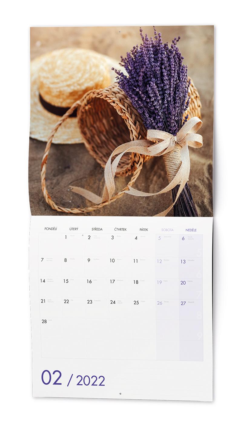 Nástěnný kalendář - Poznámkový - Provence