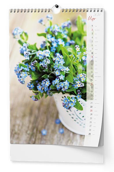 Nástěnný kalendář A3 - Květiny