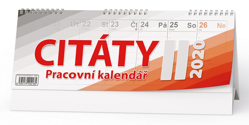 Stolní kalendář - Citáty  II.