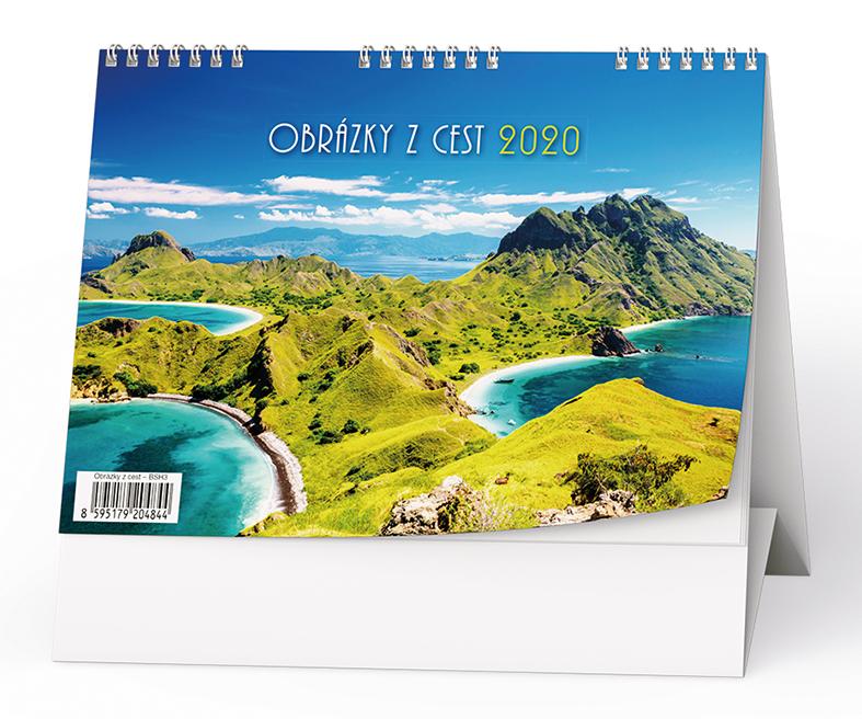 Stolní kalendář - Obrázky z cest