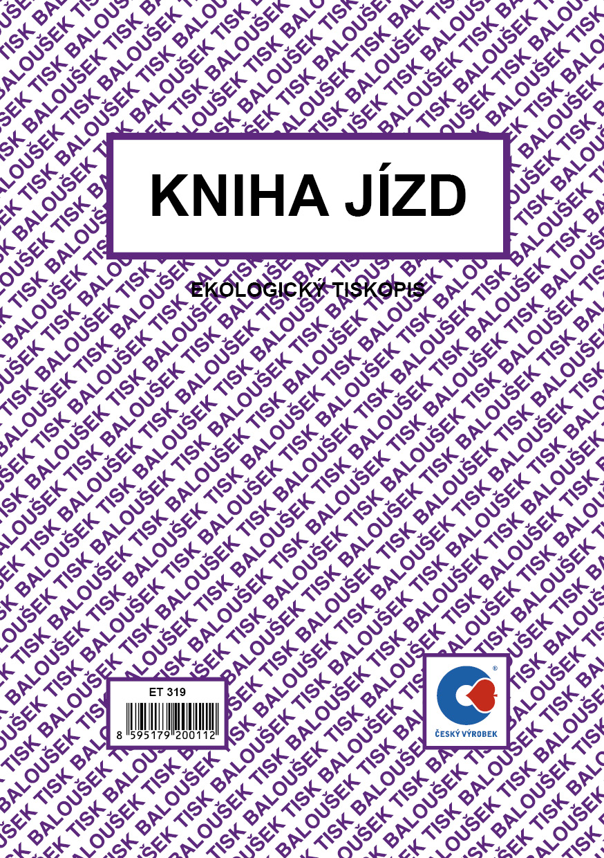 Kniha jízd A5 fir. a sou. voz. obou., 24 stran, BALOUŠEK, ET319