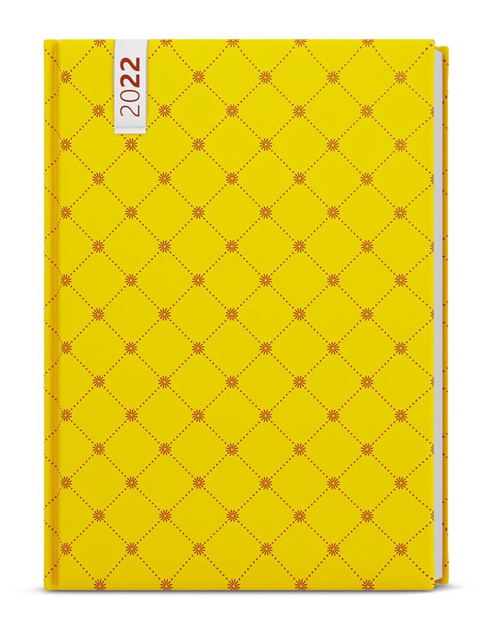 Týdenní diář - Oskar - lamino - A5 - Žlutý