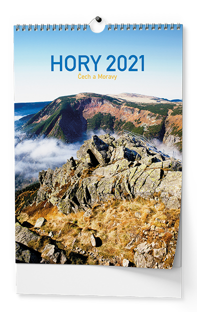 Nástěnný kalendář A3 - Hory Čech a Moravy, BALOUŠEK, BHG5