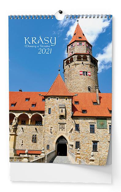 Nástěnný kalendář A3 - Krásy Moravy a Slezska, BALOUŠEK, BNF7