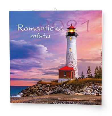 Nástěnný kalendář - Poznámkový - Romantická místa, BALOUŠEK, BNL6