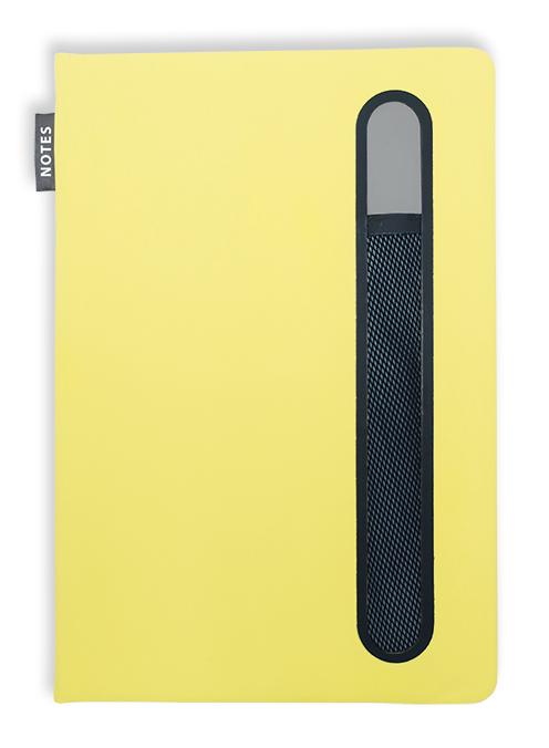 Notes linkovaný s kapsou A5 - pastel - limetková