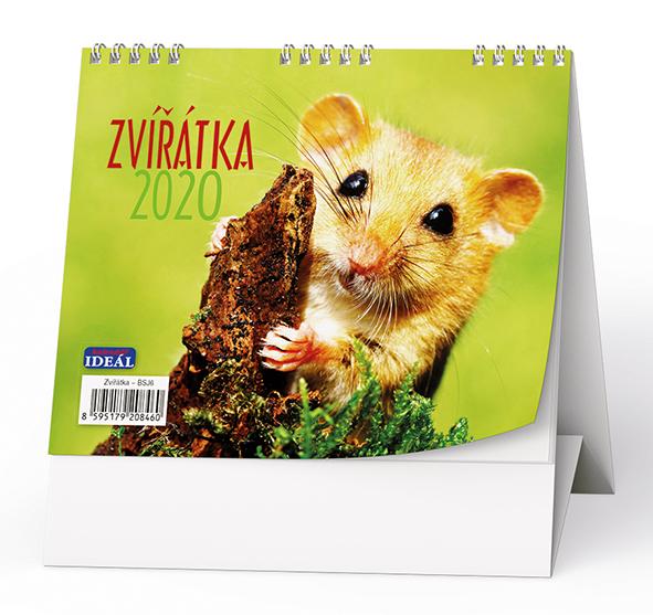 Stolní kalendář - IDEÁL - Zvířátka