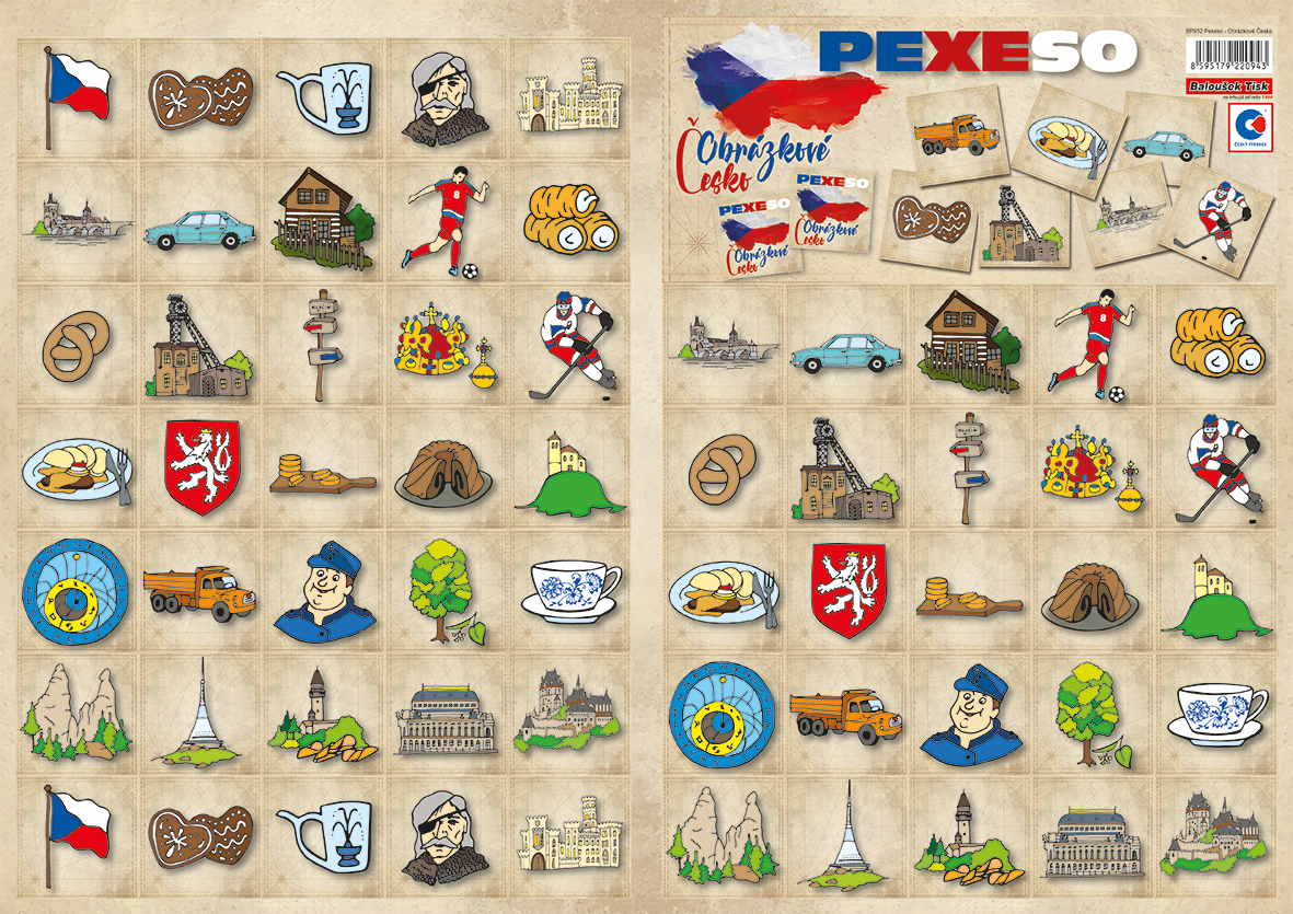 Pexeso  Obrázkové Česko