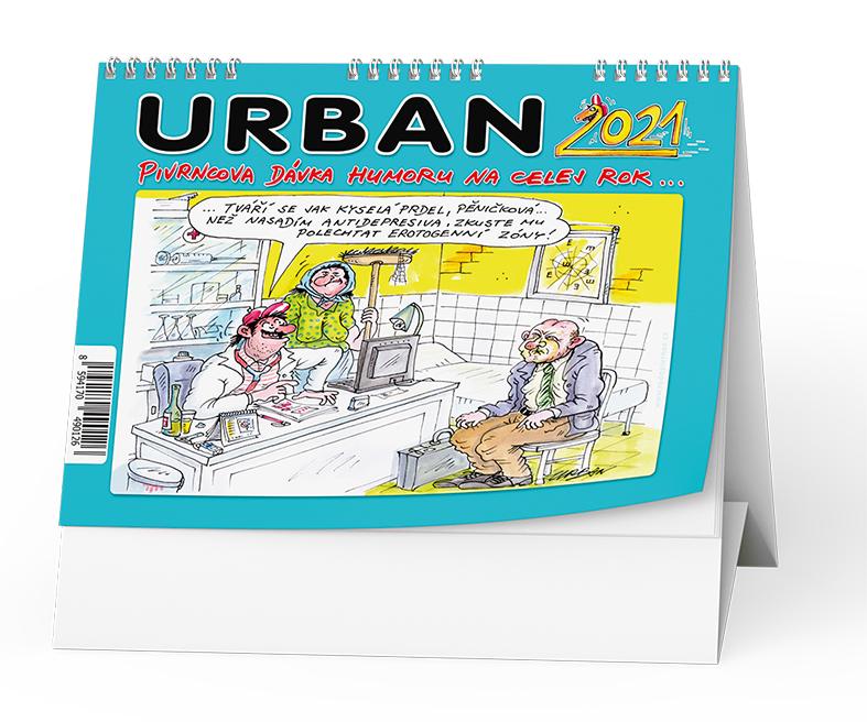 Stolní kalendář - Urban 2021 - Pivrncova dávka humoru na celej rok...