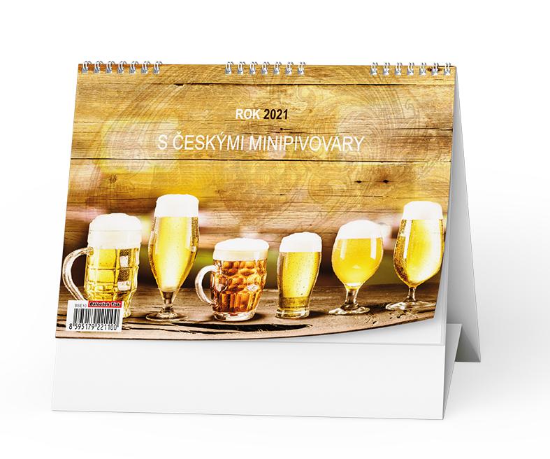 Stolní kalendář - Rok 2021 s českými minipivovary