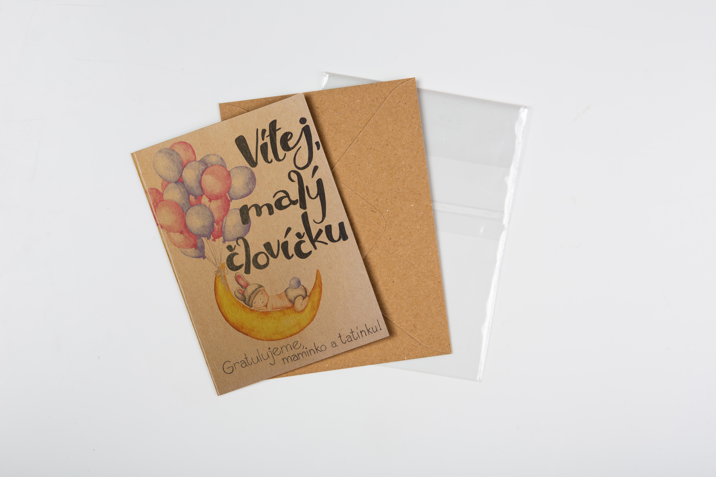 Přáníčko BeBechy – recyklovaný papír – Vítej