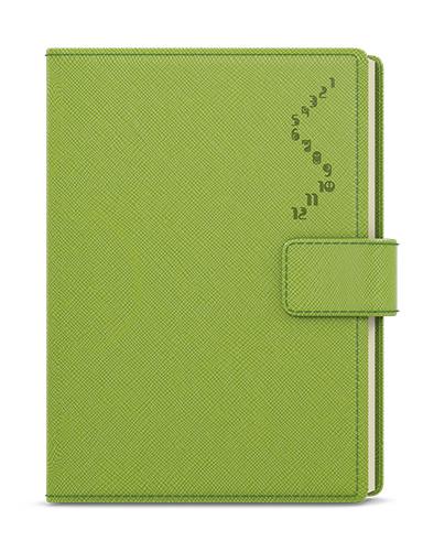 Denní diář - Ctirad - s výsekem - manager color - A5 - zelená, BALOUŠEK, BDCk28-5