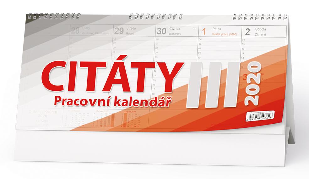 Stolní kalendář - Citáty  III.