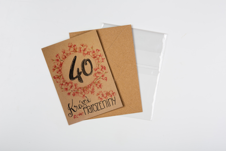 Přáníčko BeBechy – recyklovaný papír – 40