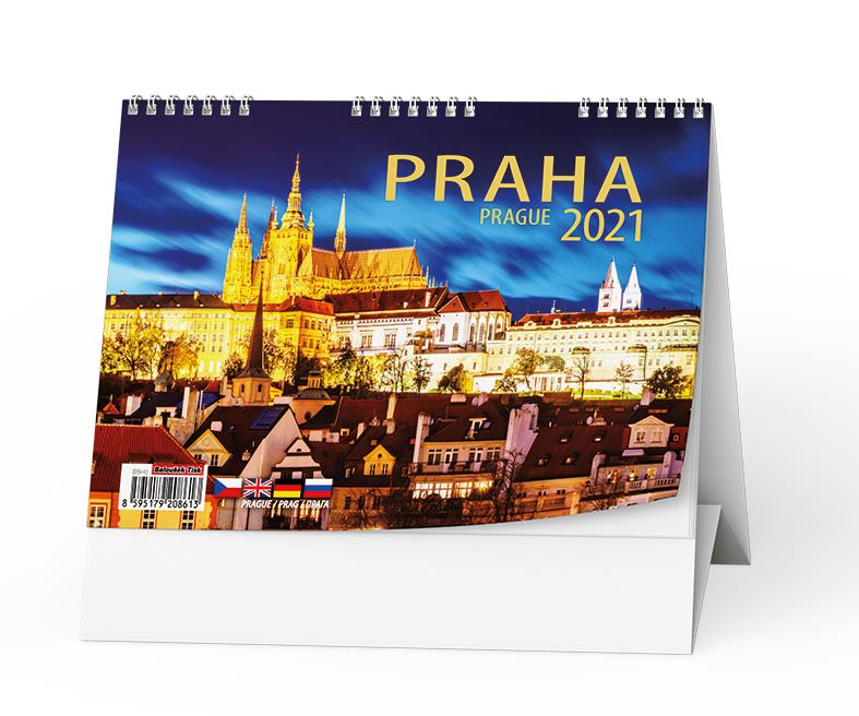 Stolní kalendář - Praha, BALOUŠEK, BSH0