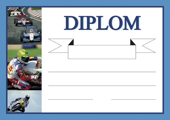 Diplom A5 Moto - sport