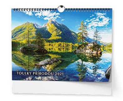 Nástěnný kalendář A3 - Toulky přírodou, BALOUŠEK, BNG1