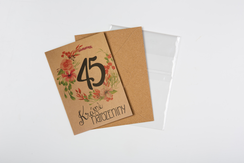 Přáníčko BeBechy – recyklovaný papír – 45