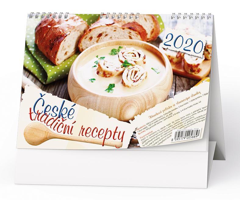 Stolní kalendář - České tradiční recepty