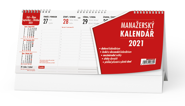 Stolní kalendář - Manažerský kalendář, BALOUŠEK, BSN1