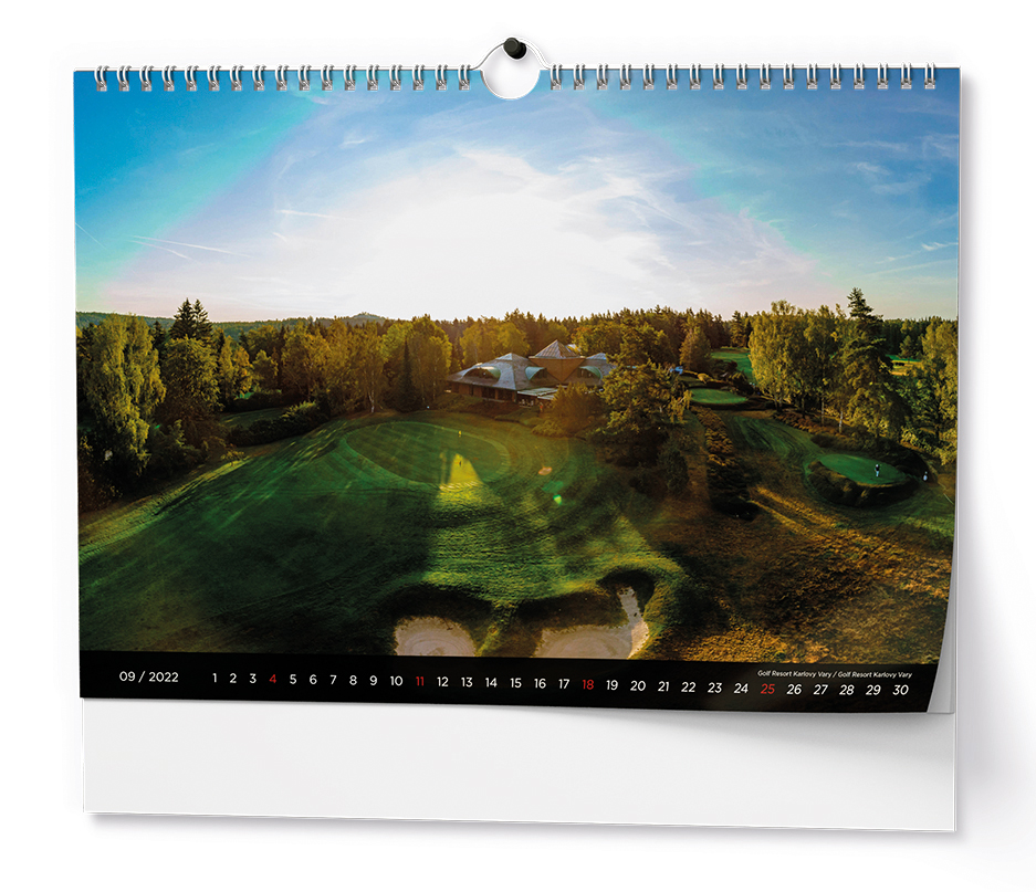 Nástěnný kalendář A3 - Golf