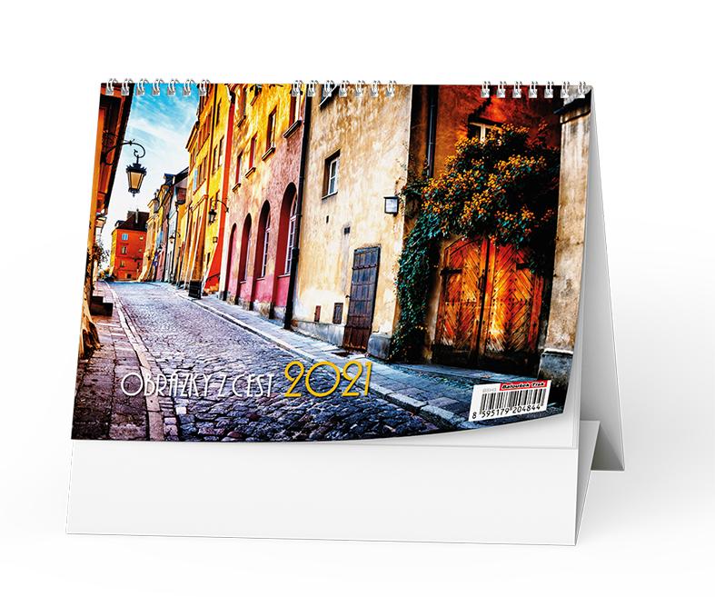 Stolní kalendář - Obrázky z cest, BALOUŠEK, BSH3