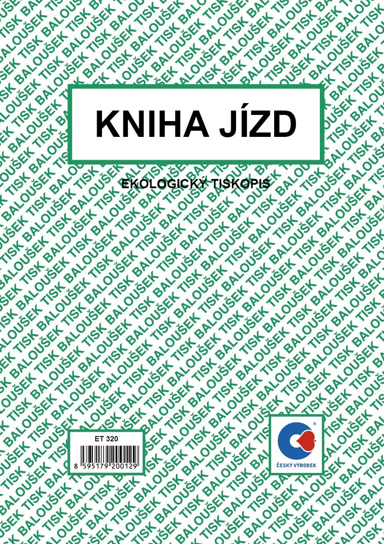 Kniha jízd A5, maxi, fir. a sou.voz. obou., 52 stran, BALOUŠEK, ET320