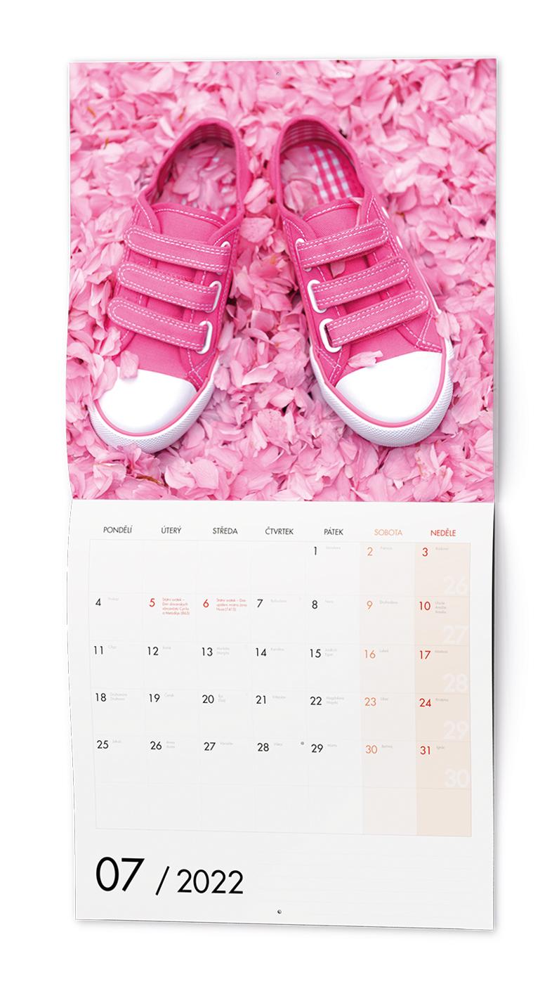 Nástěnný kalendář - Poznámkový - Barevný svět