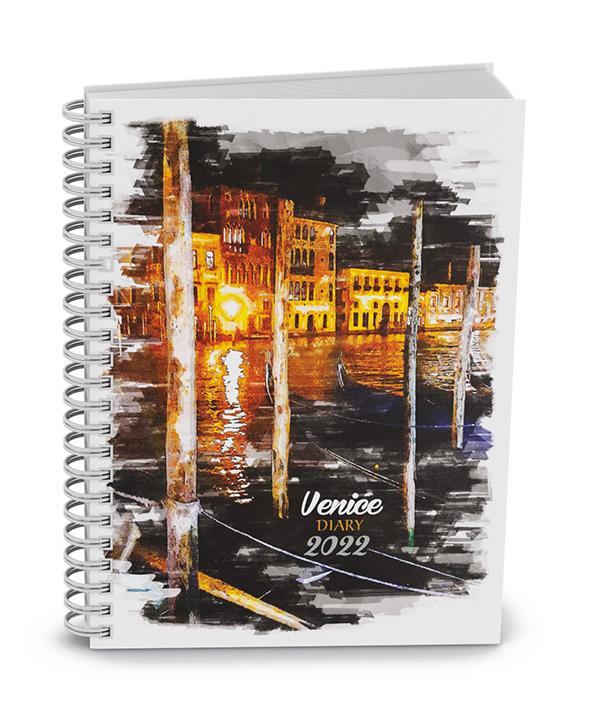 Týdenní diář - Egon - twin wire - lamino - Venice