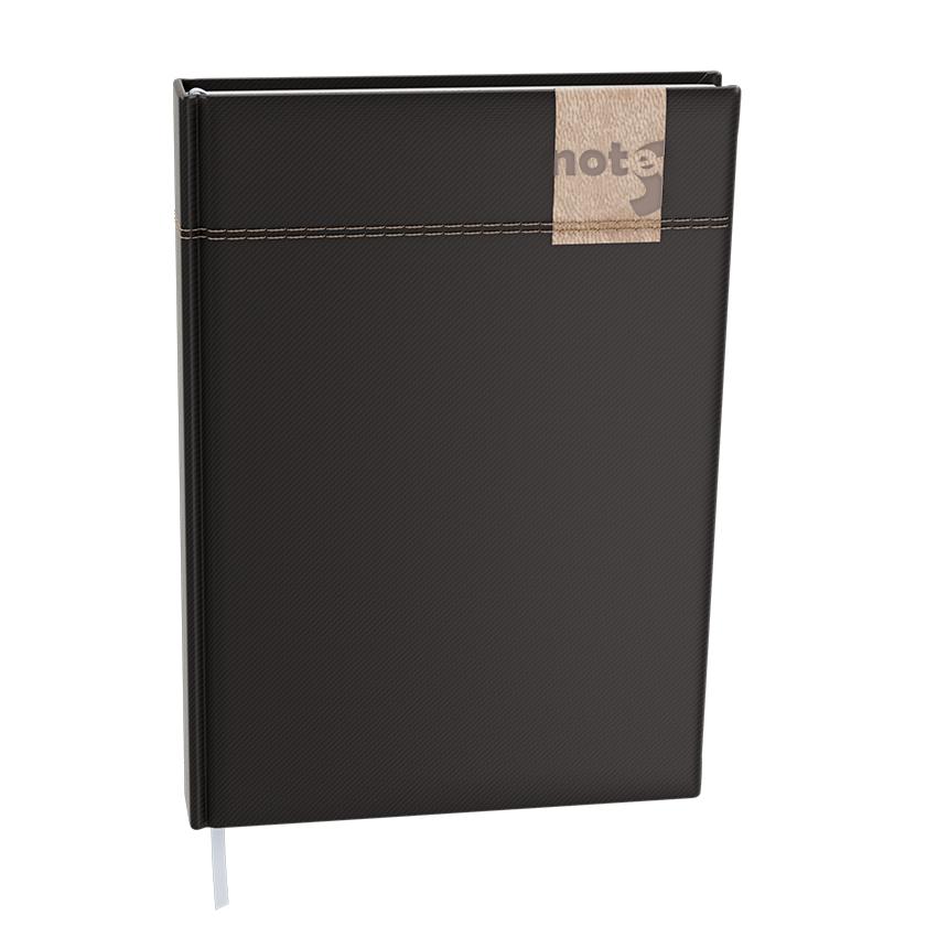 Notes linkovaný A6 - denim - černá