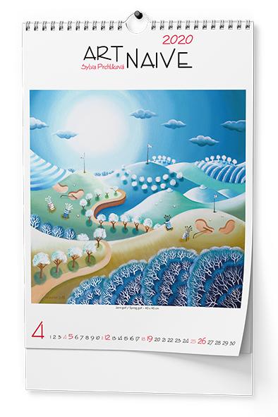 Nástěnný kalendář A3 - Art Naive - Sylva Prchlíková