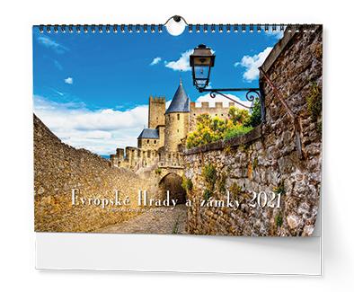 Nástěnný kalendář - Evropské hrady a zámky - A3, BALOUŠEK, BNK2