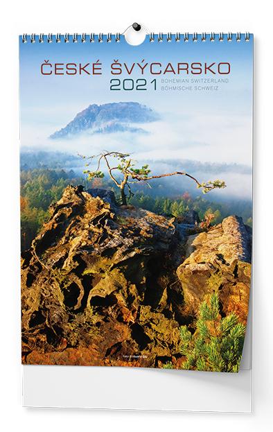 Nástěnný kalendář A3 - České Švýcarsko, BALOUŠEK, BNK4