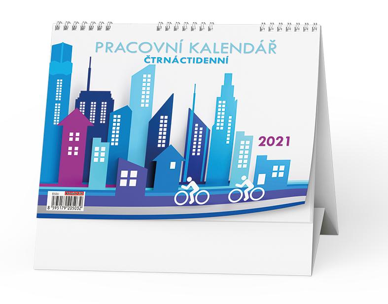 Stolní kalendář - Pracovní čtrnáctidenní, BALOUŠEK, BSB0
