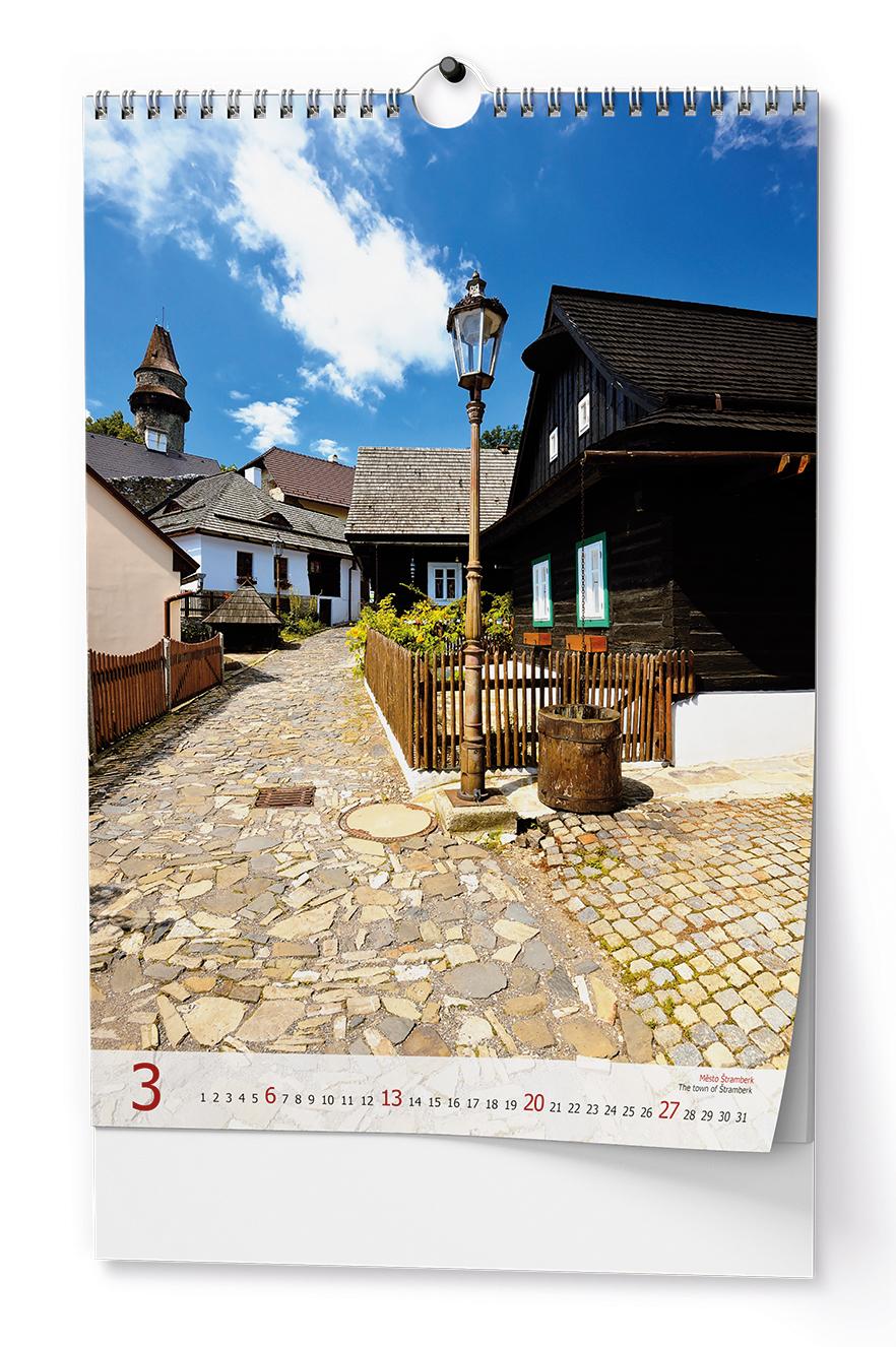 Nástěnný kalendář A3 - Krásy Moravy a Slezska