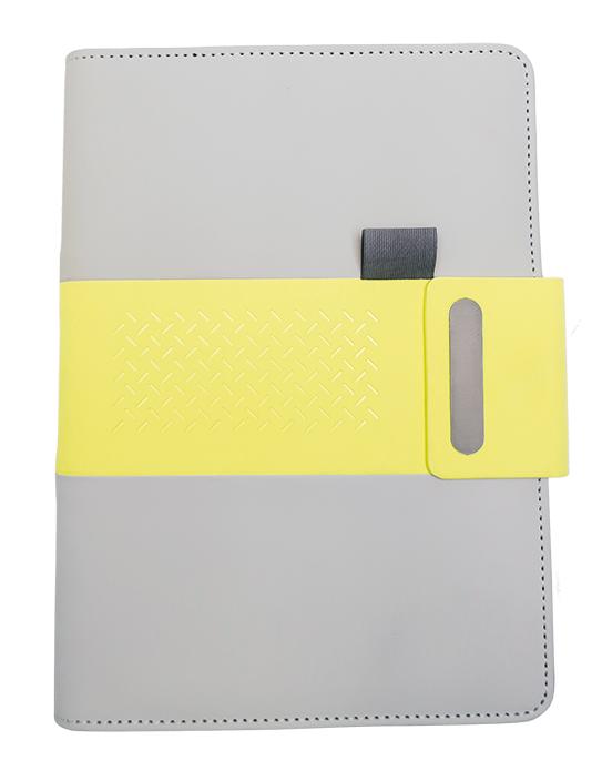 Notes linkovaný s kapsou A5 - elegant - limetková