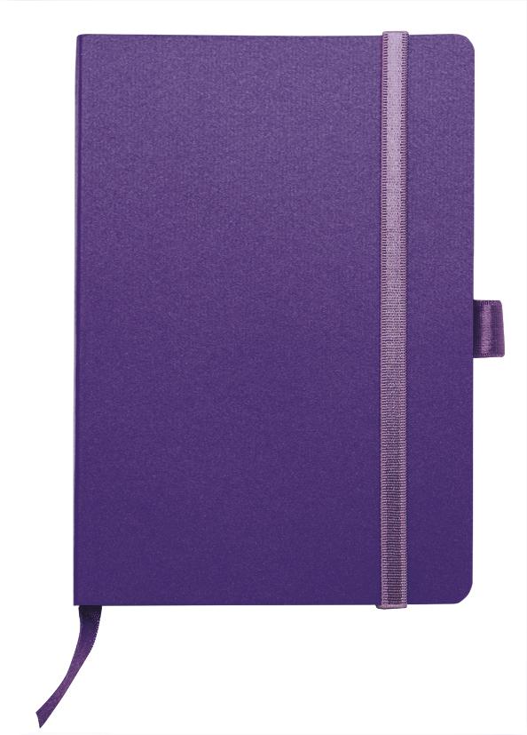 Notes linkovaný s kapsou - A6 - fialový