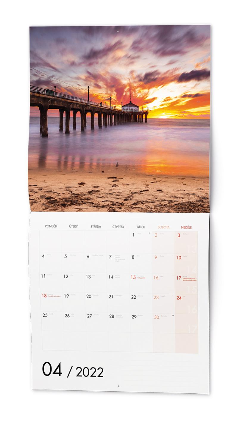 Nástěnný kalendář - Poznámkový - Romantická místa