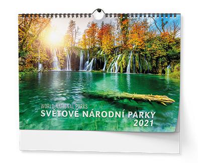 Nástěnný kalendář A3 - Světové národní parky, BALOUŠEK, BNK21